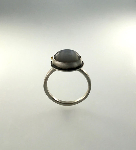 Ananda Khalsa Grey Moonstone Ring