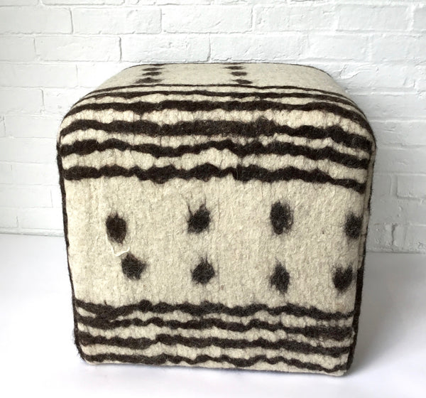 Amadi Felted Wool Pouf