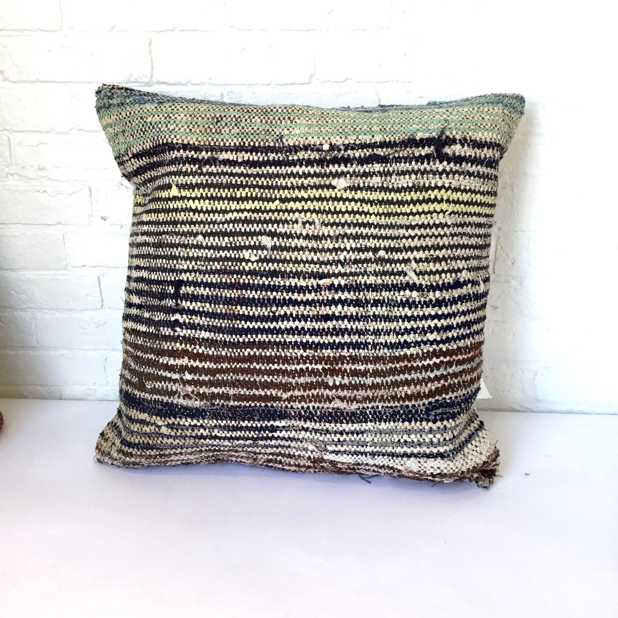 Amadi Handwoven Rag Pillow
