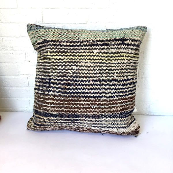 Amadi Handwoven Rag Pillow #1