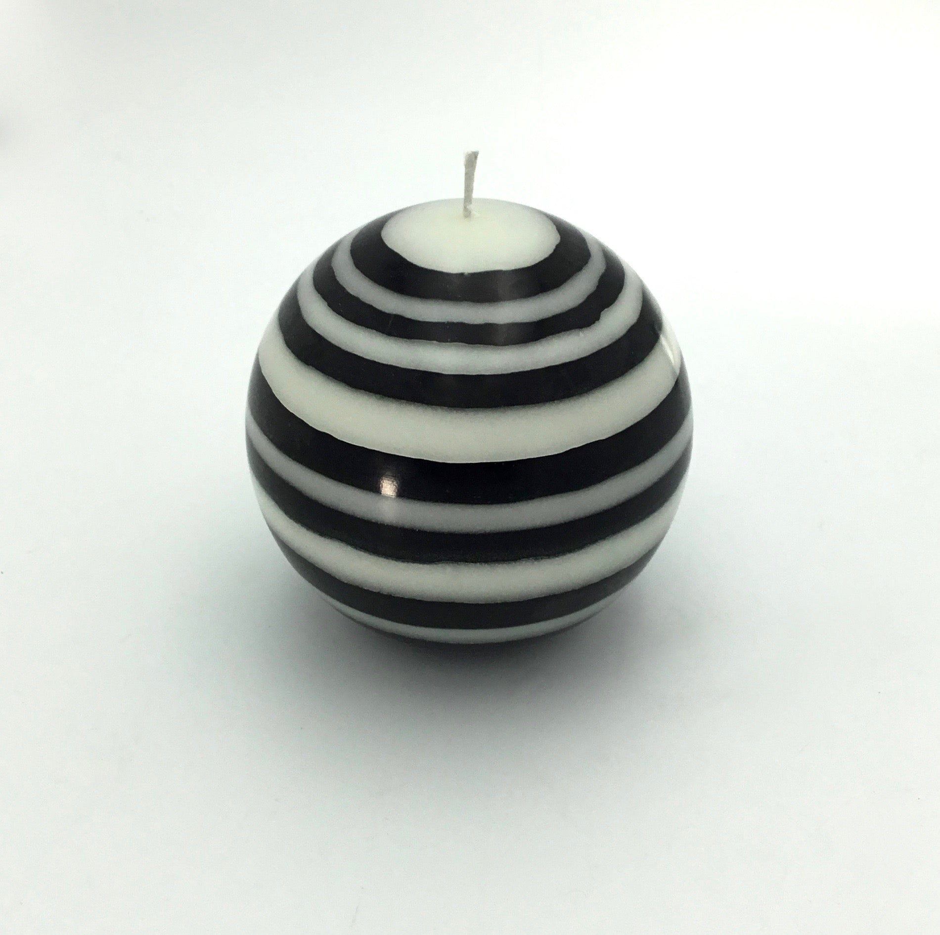 British Colour Standard Large Stripe Ball Candle