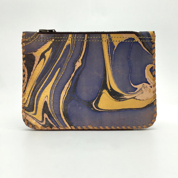 Studio One Caleidoscope Leather Pouch in Blue