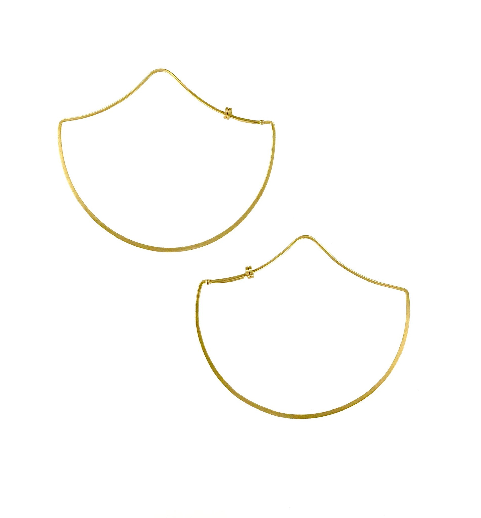 Carla Caruso 14K Ogee Dainty Hoop Earrings (SOLD)