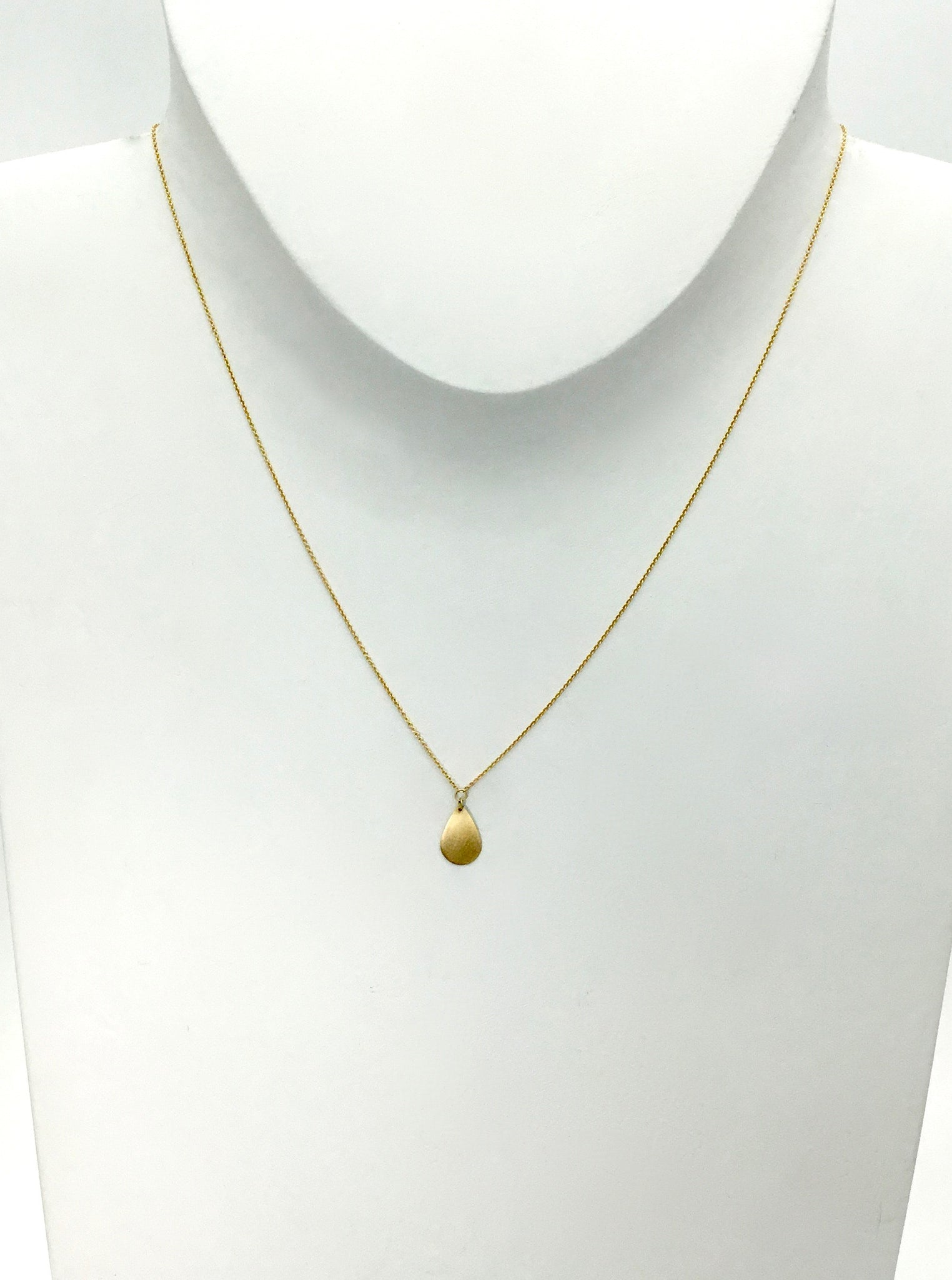 Carla Caruso Single Teardrop Necklace