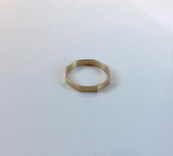 Carla Caruso Narrow Geometric 14K Ring