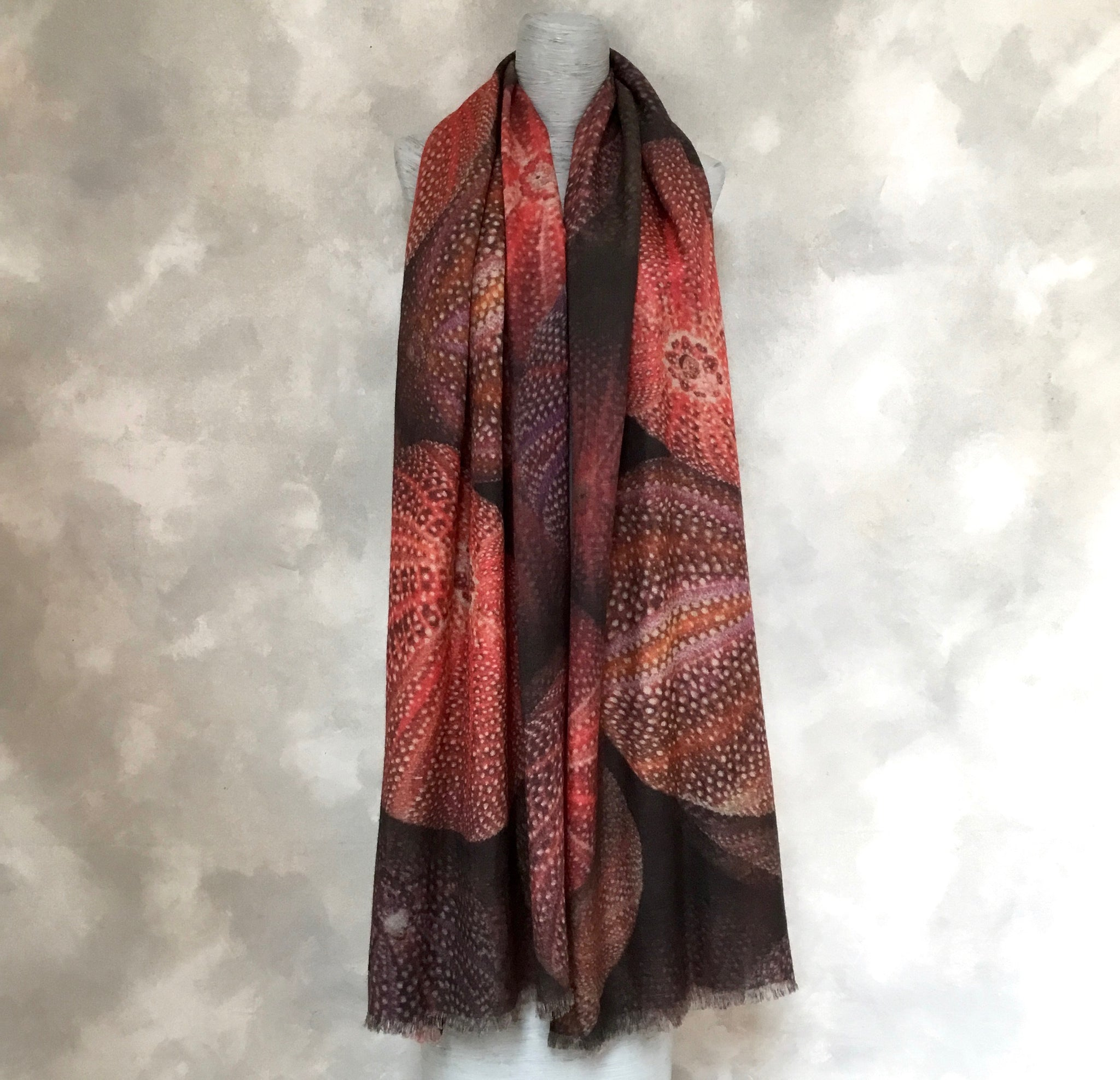 Continental Look Coral Sea Urchin Shawl (SOLD)