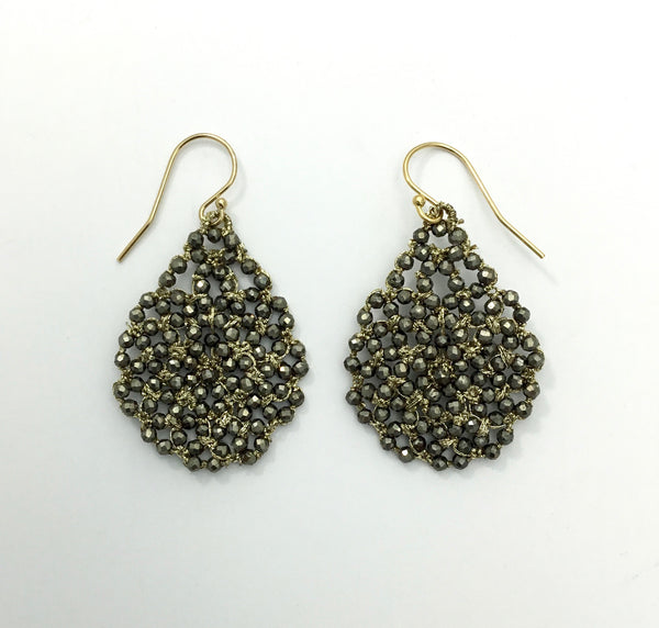 Danielle Welmond Woven Pyrite Earrings