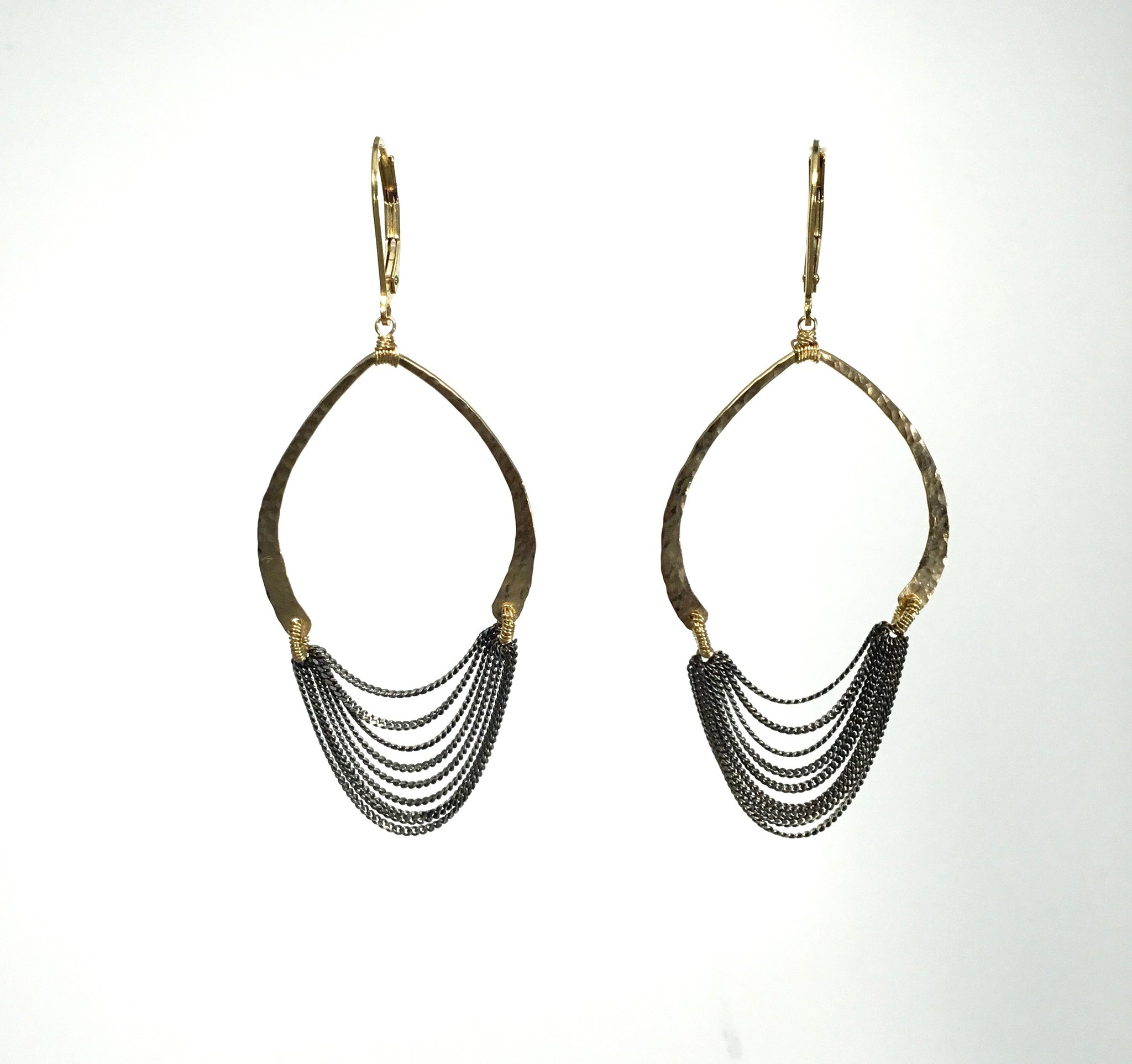 Dana Kellin Silver and Gold Deco Style Earrings