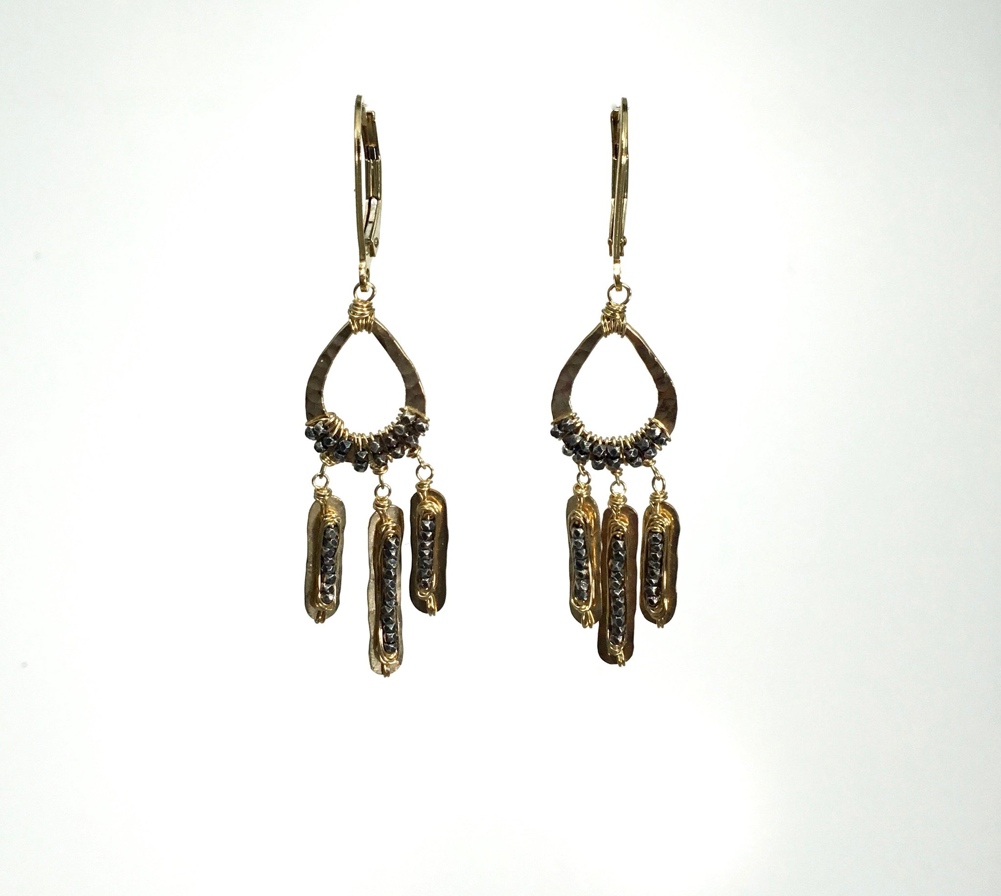 Dana Kellin Gold and Silver Tribal Earring