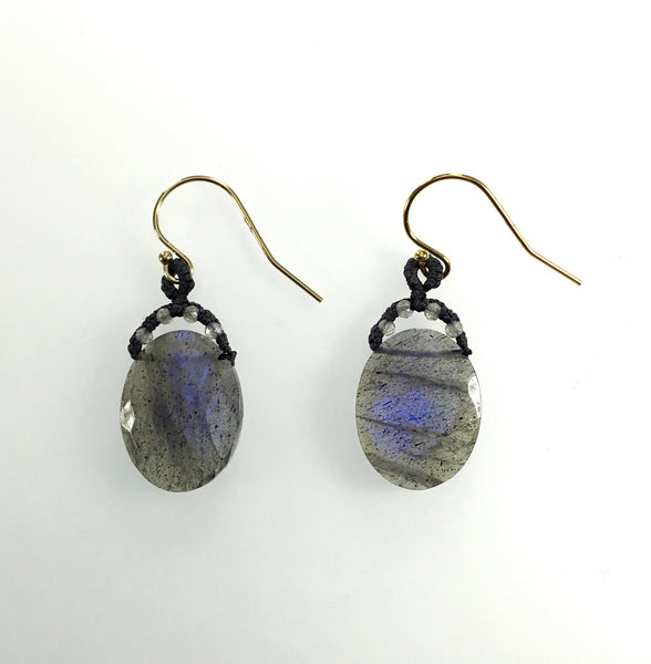 Danielle Welmond Oval Labradorite Earrings