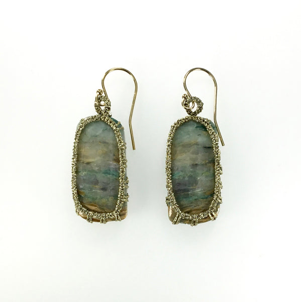 Danielle Welmond Caged Peanut Agate Earrings
