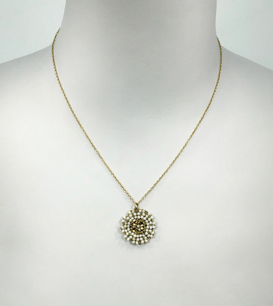 Danielle Welmond Woven Lace Coin Necklace