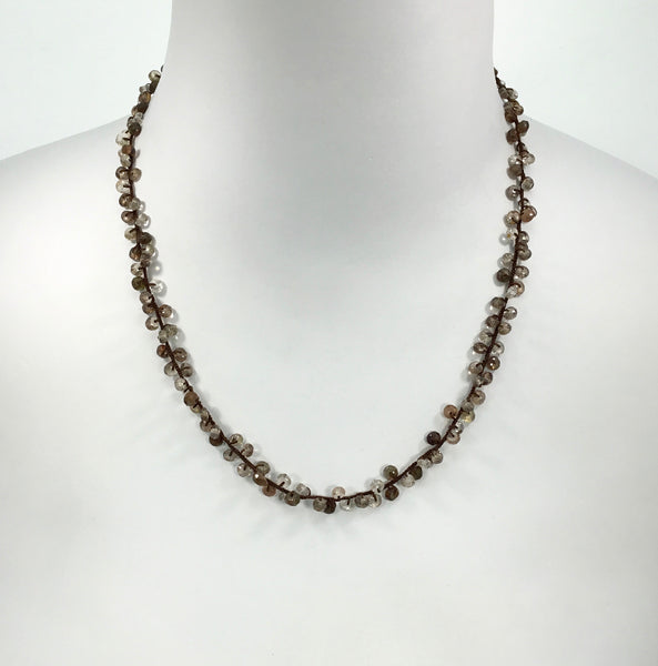Danielle Welmond Brown Zircon & Andalusite Necklace
