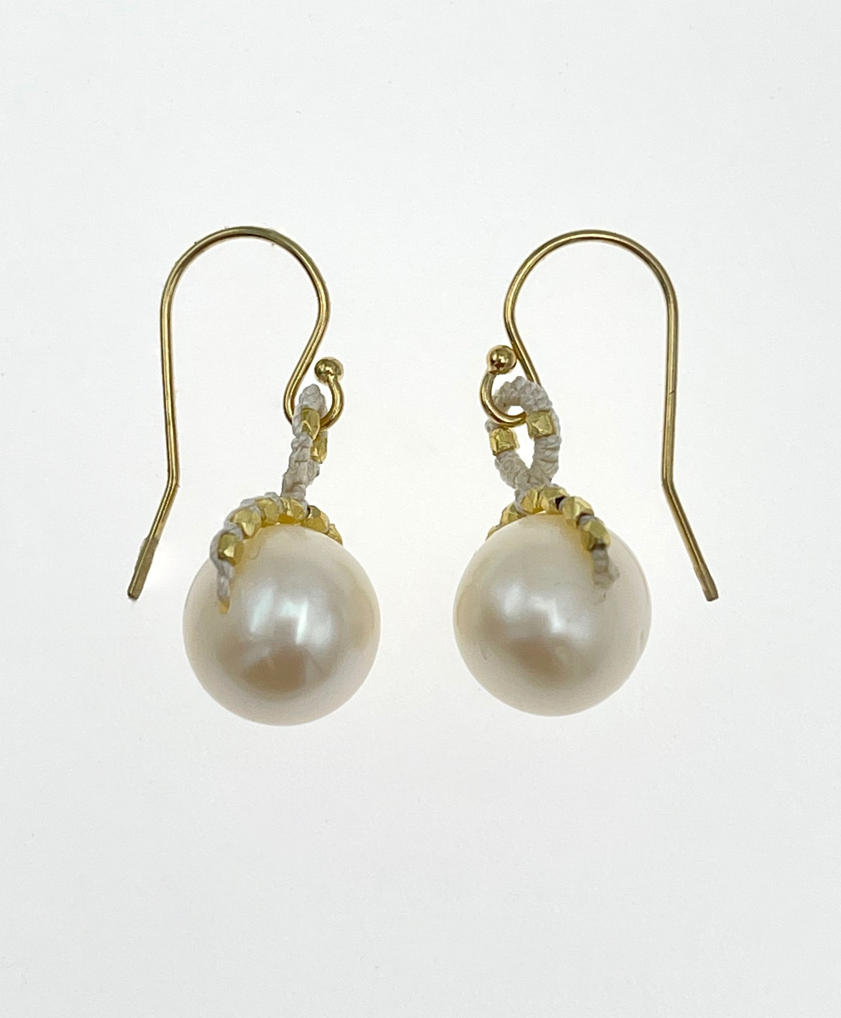 Danielle Welmond White Pearl Earrings