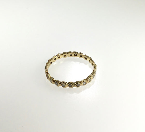 Danielle Welmond Gold and Diamond Eternity Loop Ring