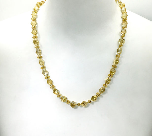 Estyn Hulbert Citrine Wave Ribbon Necklace
