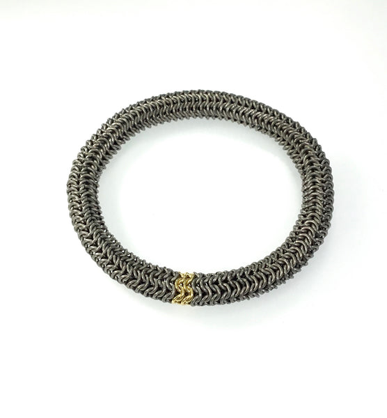 Alison Evans Titanium and Gold Bracelet