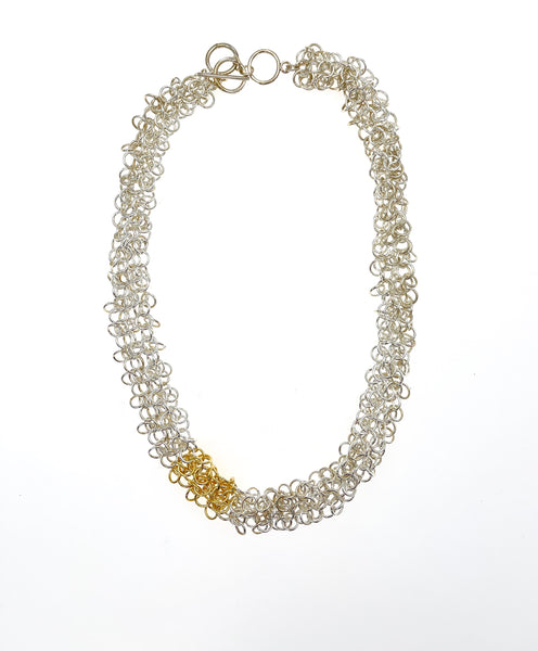 Alison Evans Sterling Silver and 18k Gold Necklace