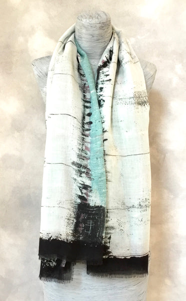English Weather Gra Abstract Scarf