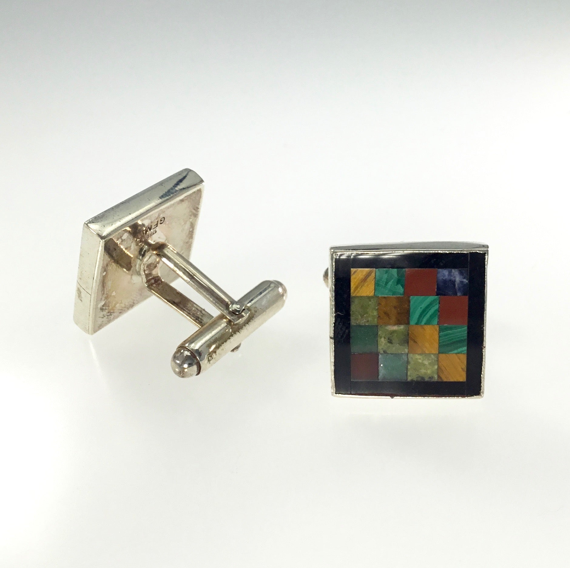 Great Falls Multicolor Mosaic Inlay Cufflinks