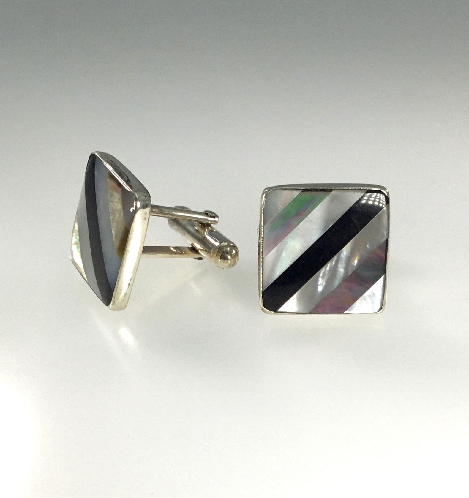 Great Falls Onyx & Mother of Pearl Cufflinks
