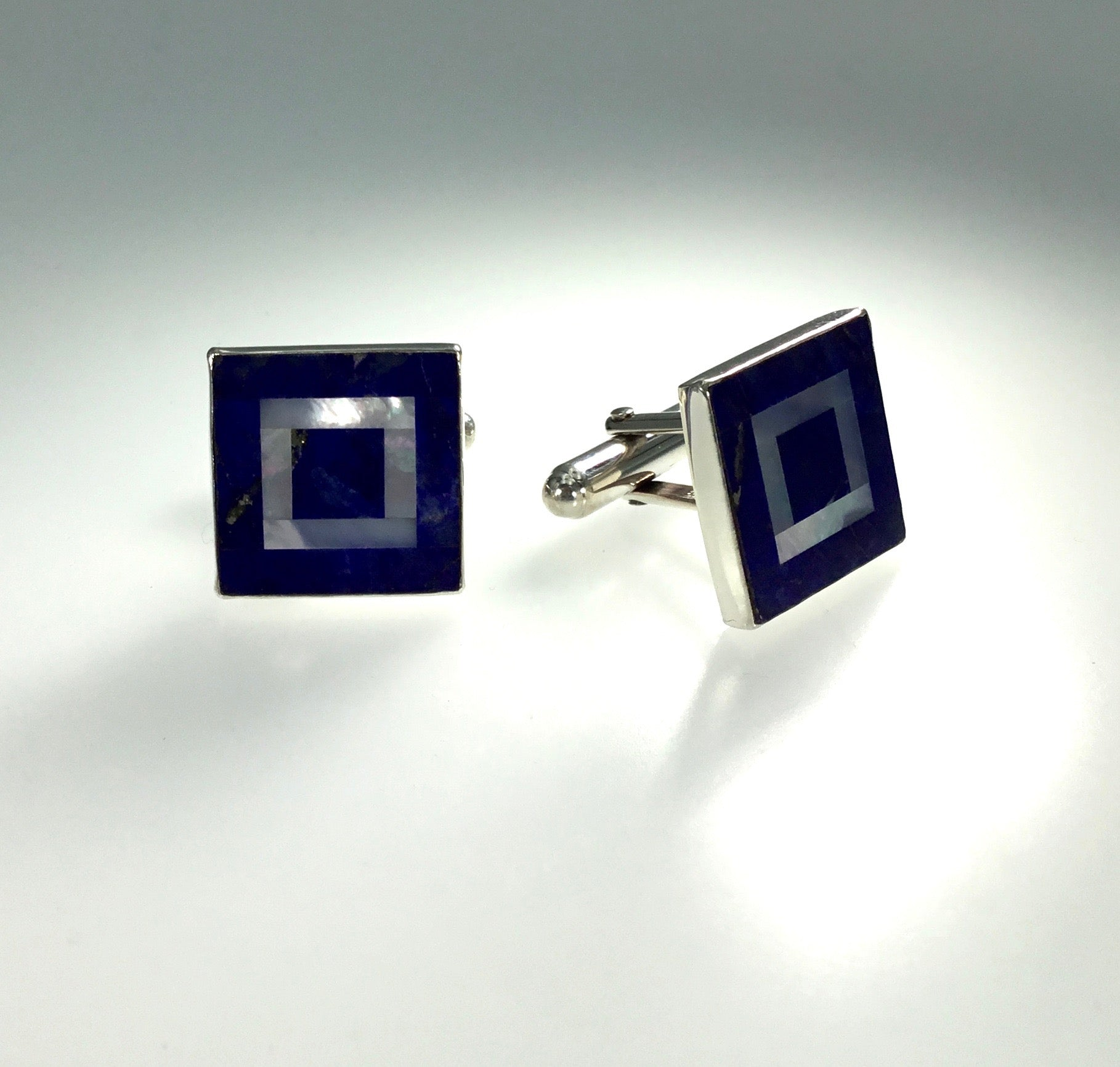 Great Falls Lapis & Mother of Pearl Cufflinks