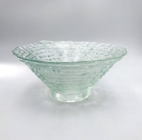 Hudson Beach Glass Medium Epidavrous Bowl in Crystal