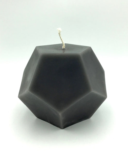Greentree Dodecahedron Candle in Grey