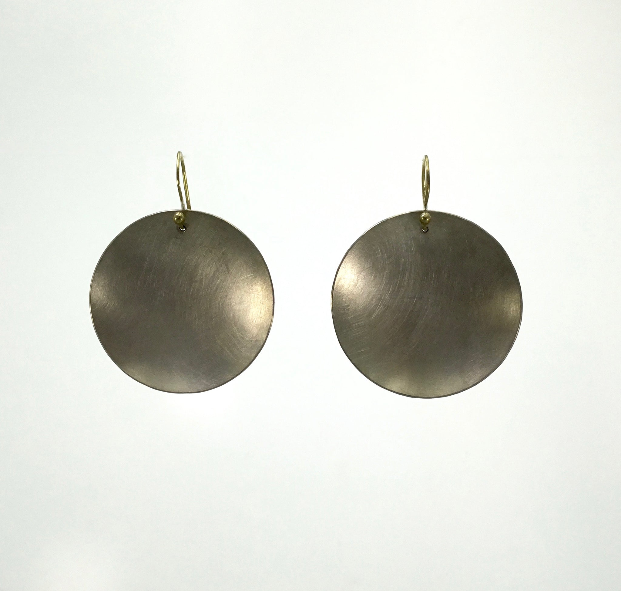 Heather Guidero Large Concave Disc Earrings