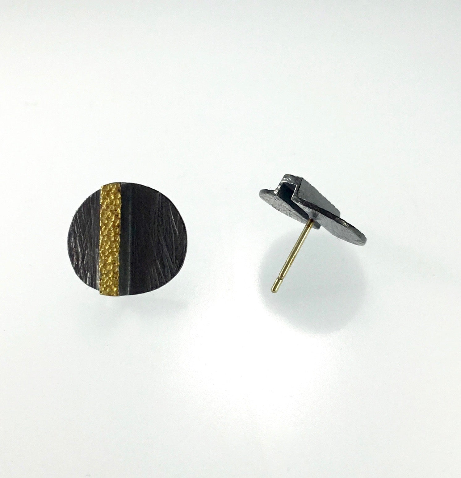 Heather Guidero Carved Discs with 22K Earrings