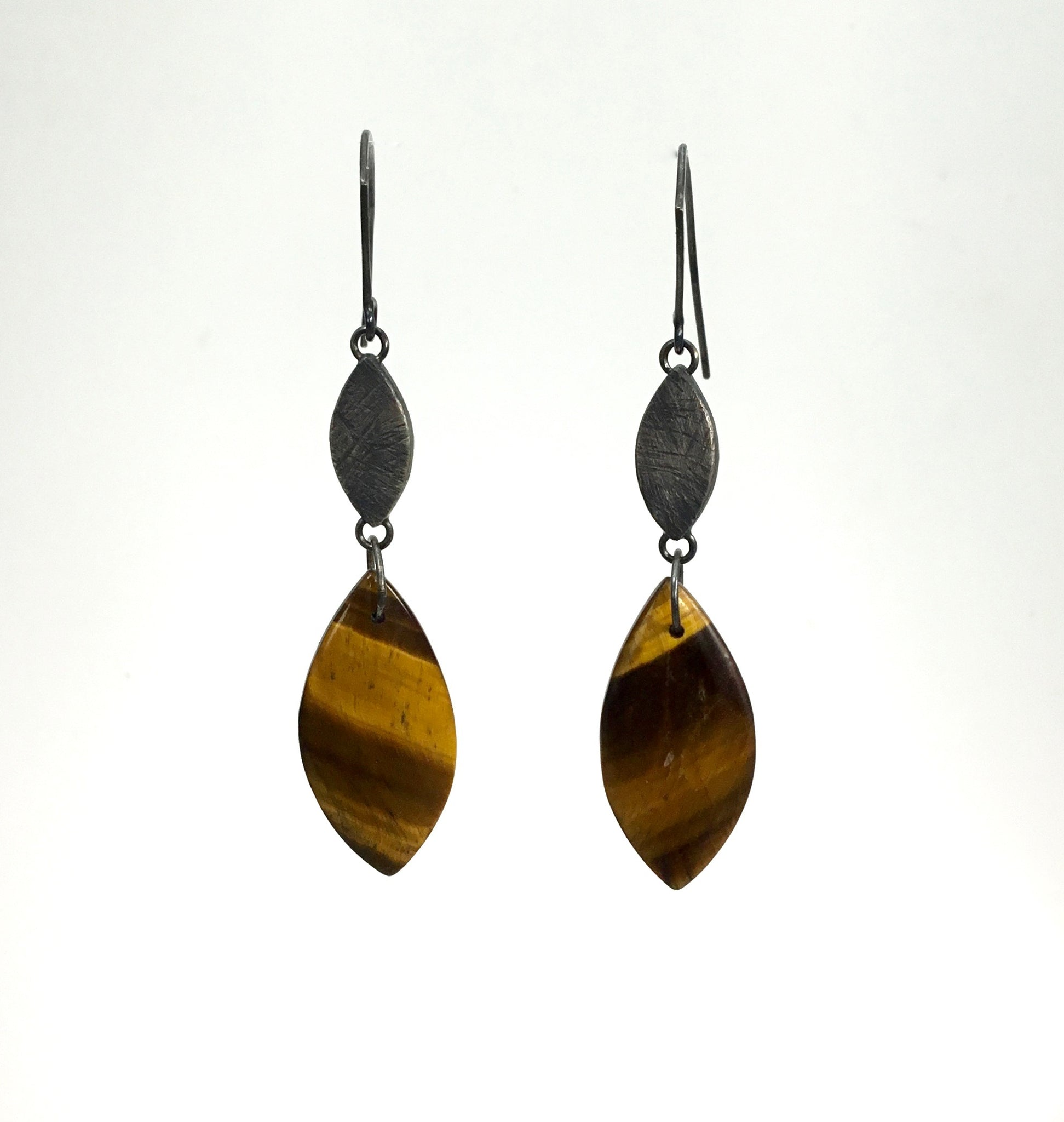 Heather Guidero Tiger Eye Earrings