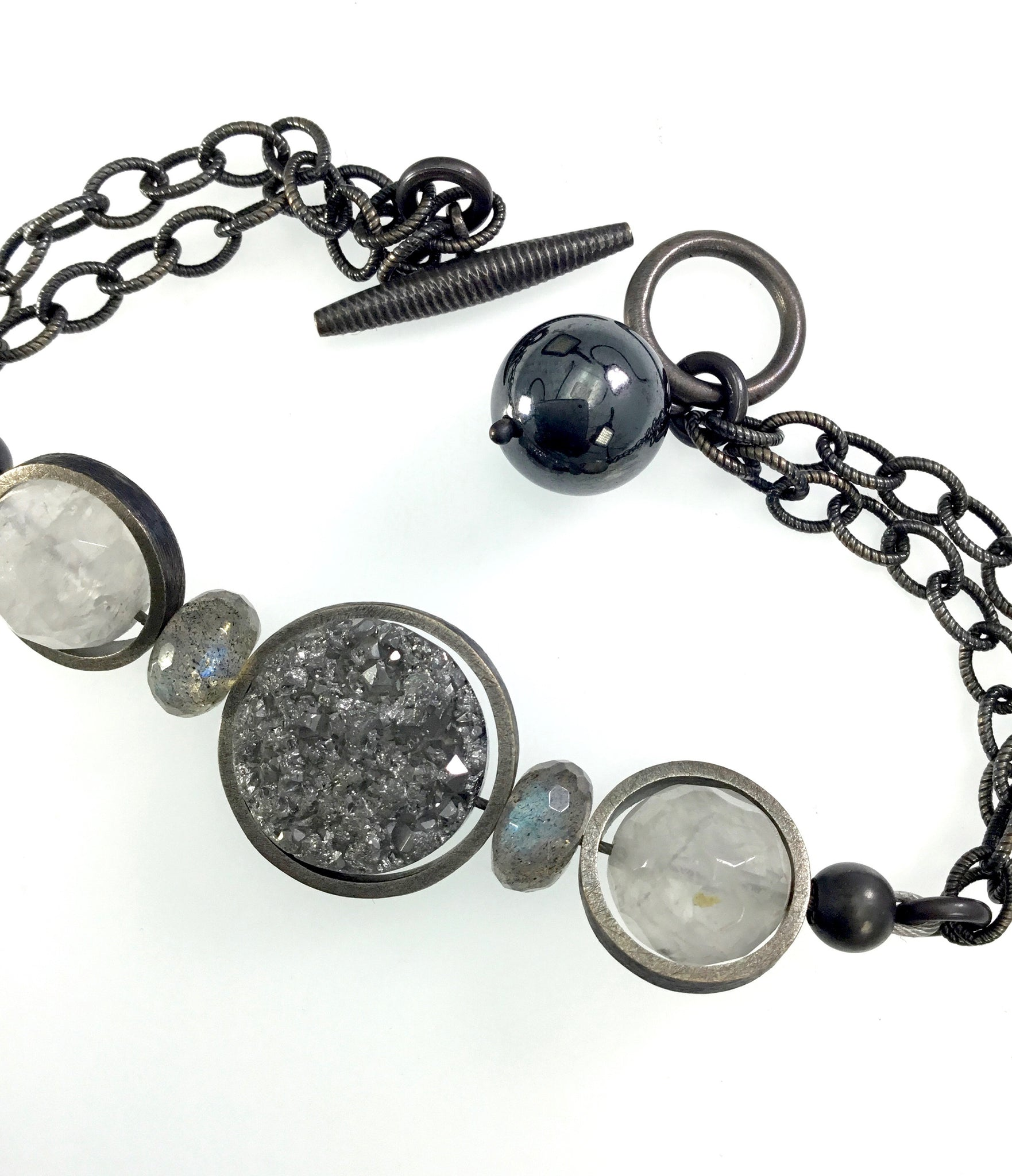 Lorelei Hamm Druzy and Quartz Bracelet