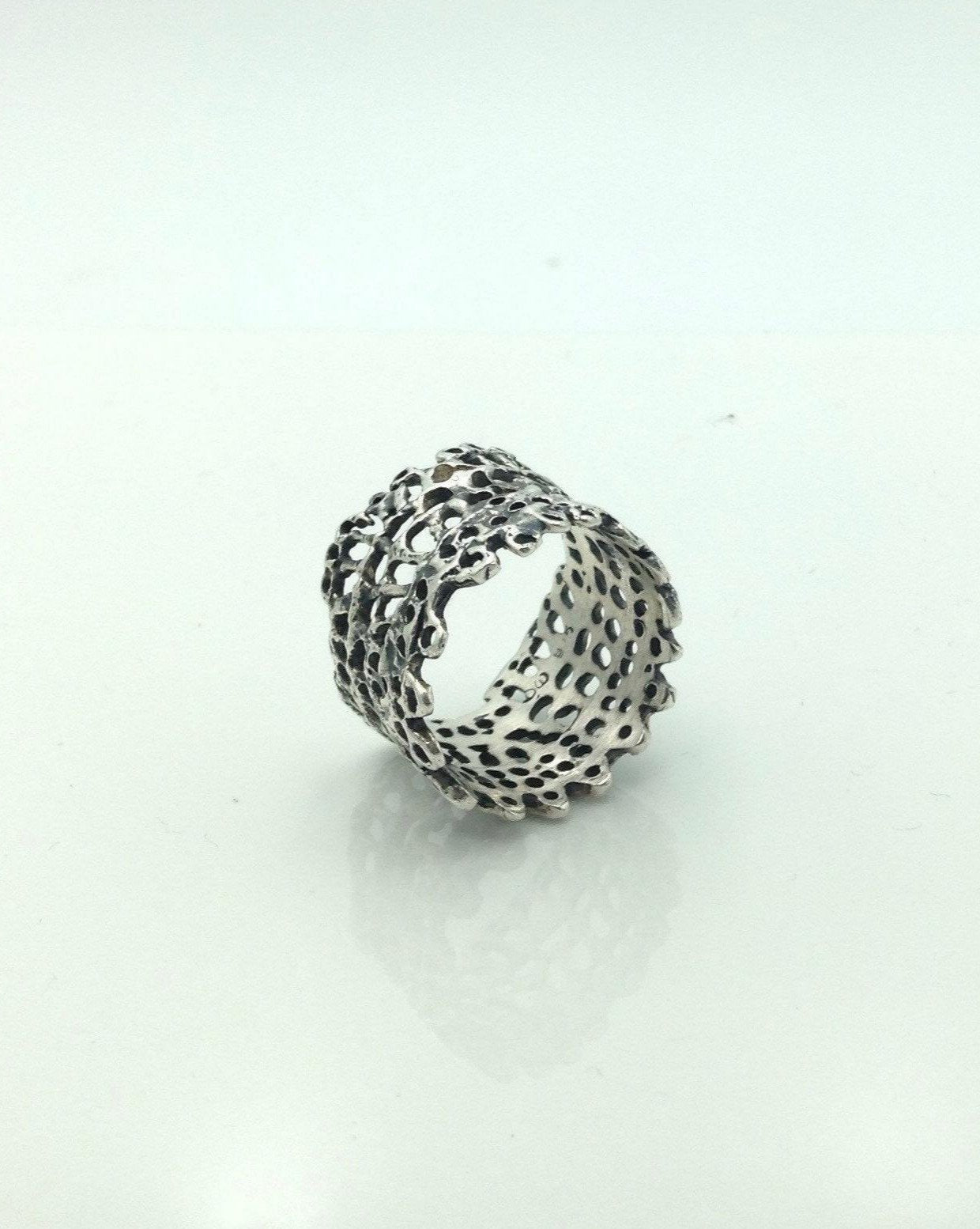 "Danielle Welmond Sterling ""Lace"" Ring"