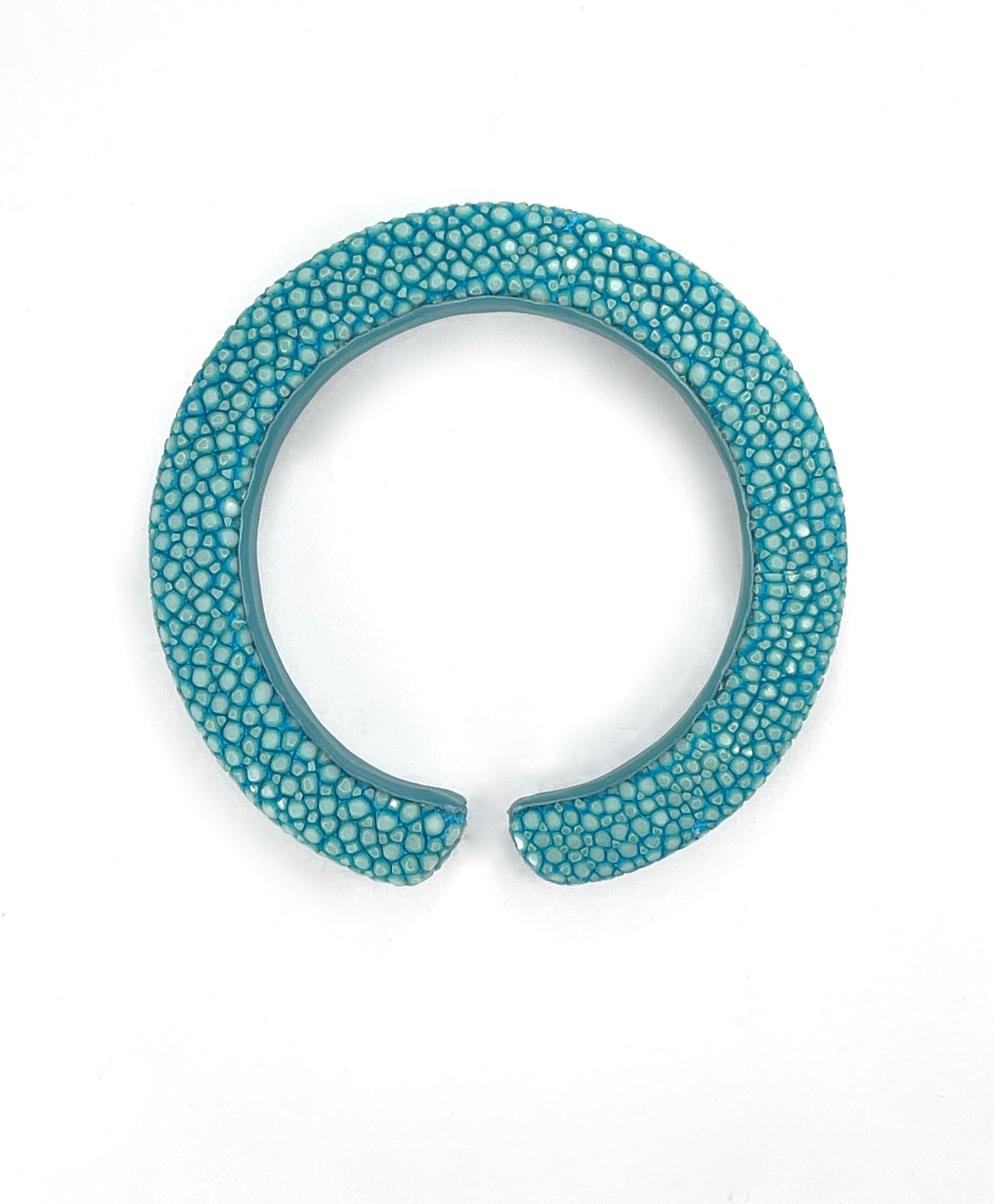 Narrow Shagreen Cuff in Turquoise