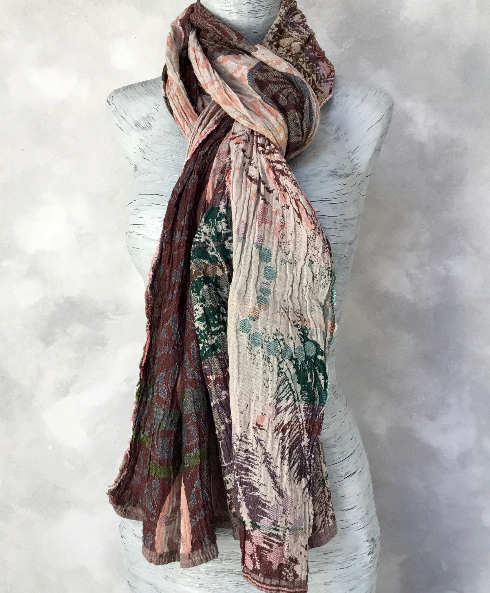 Letol Angelina Scarf in Bois de Rose