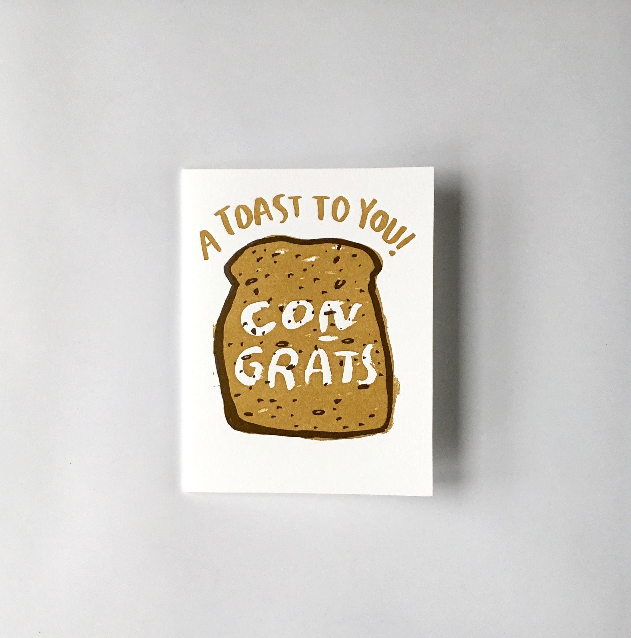 EGG PRESS CONGRATS Card