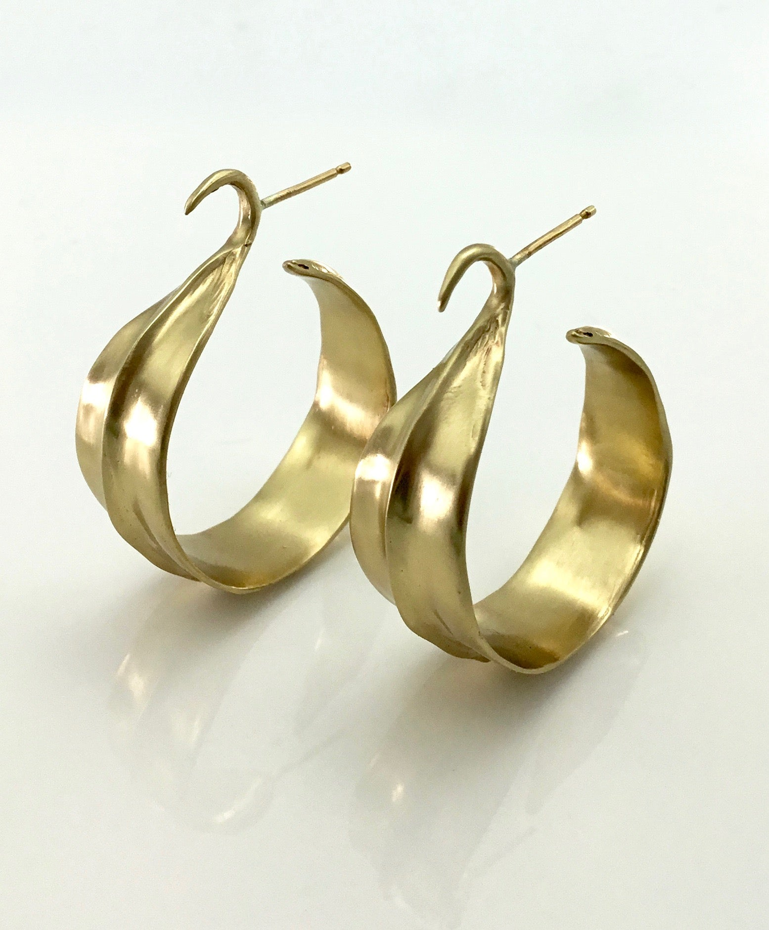 Julie Cohn Leaf Hoop Bronze Earring