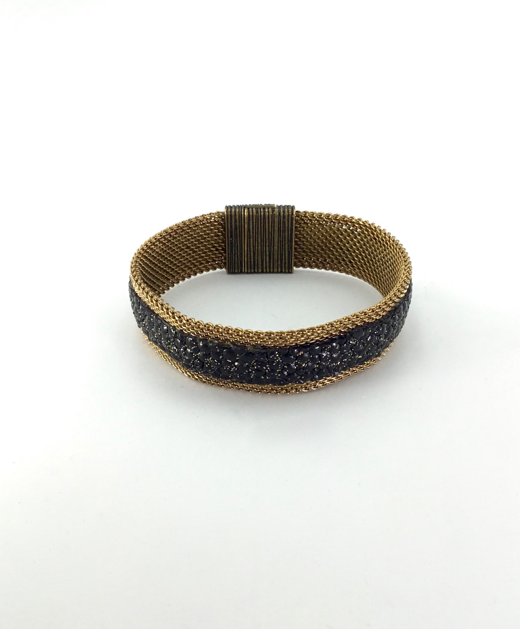 Cynthia Desser Narrow Shimmer Bracelet in Black