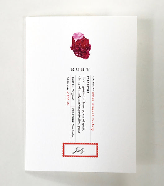 Open Sea Ruby July Birthstone Card