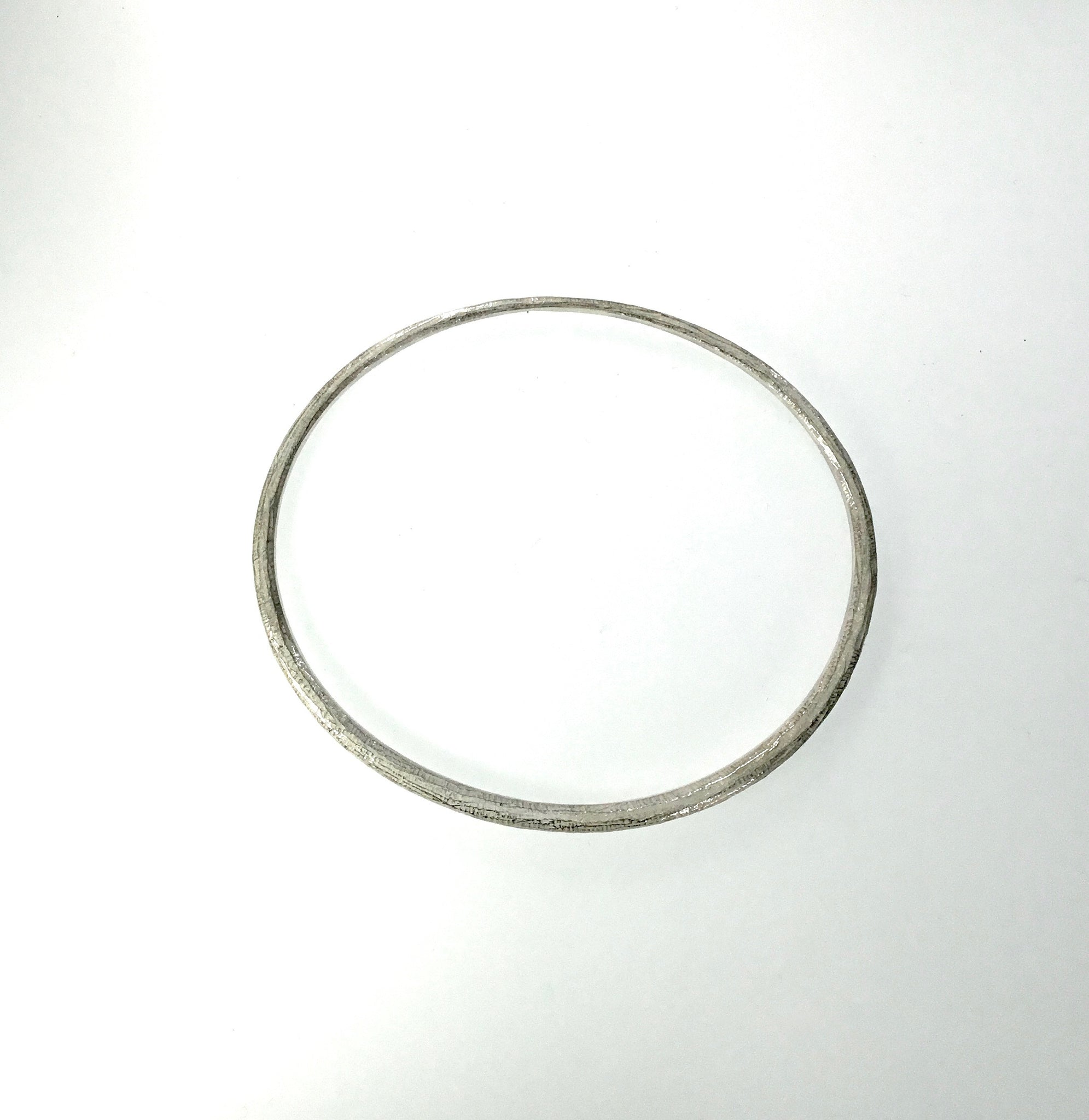 John Iversen Sterling Silver Oval Bangle