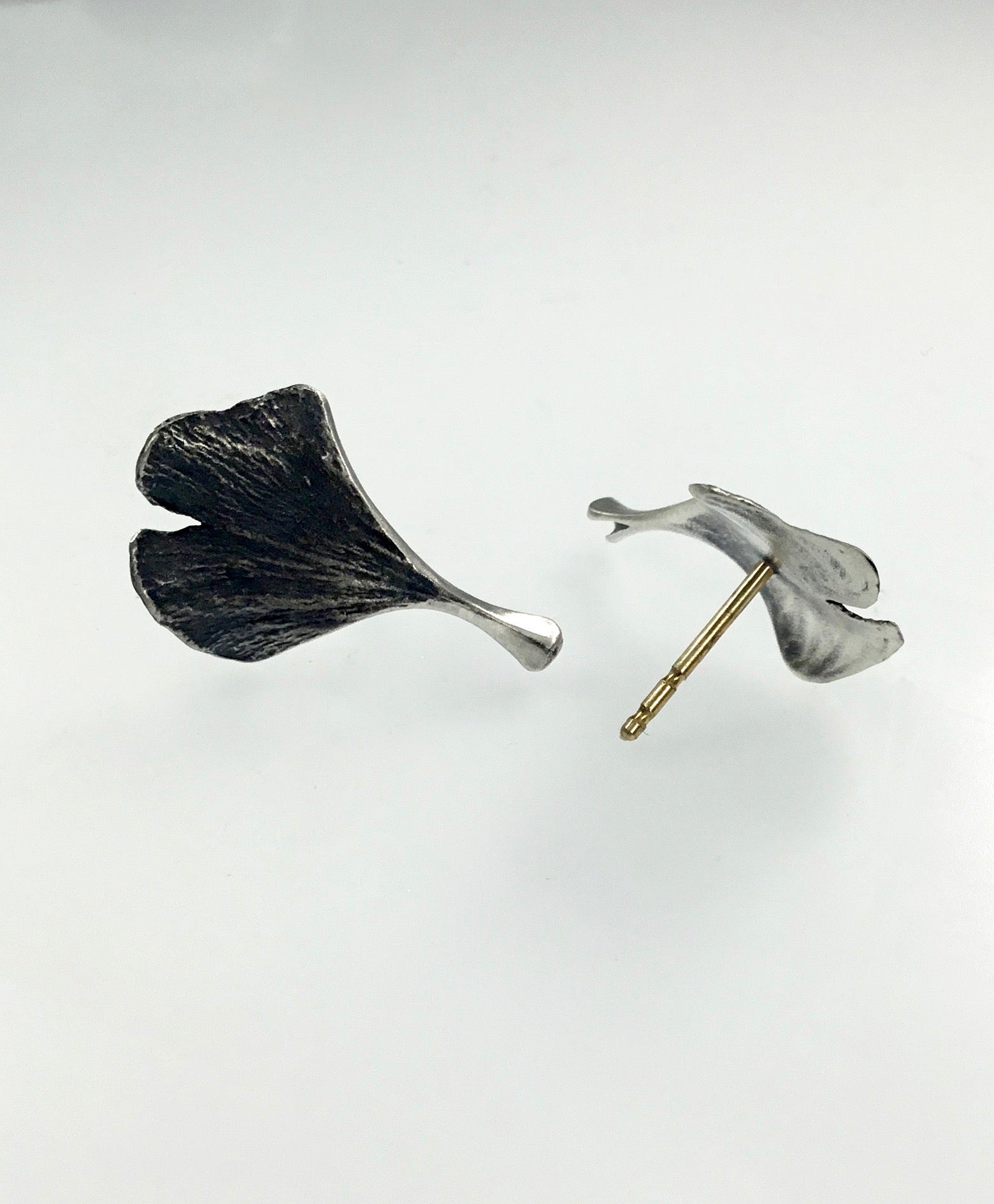 John Iversen Baby Ginkgo Leaf Earrings