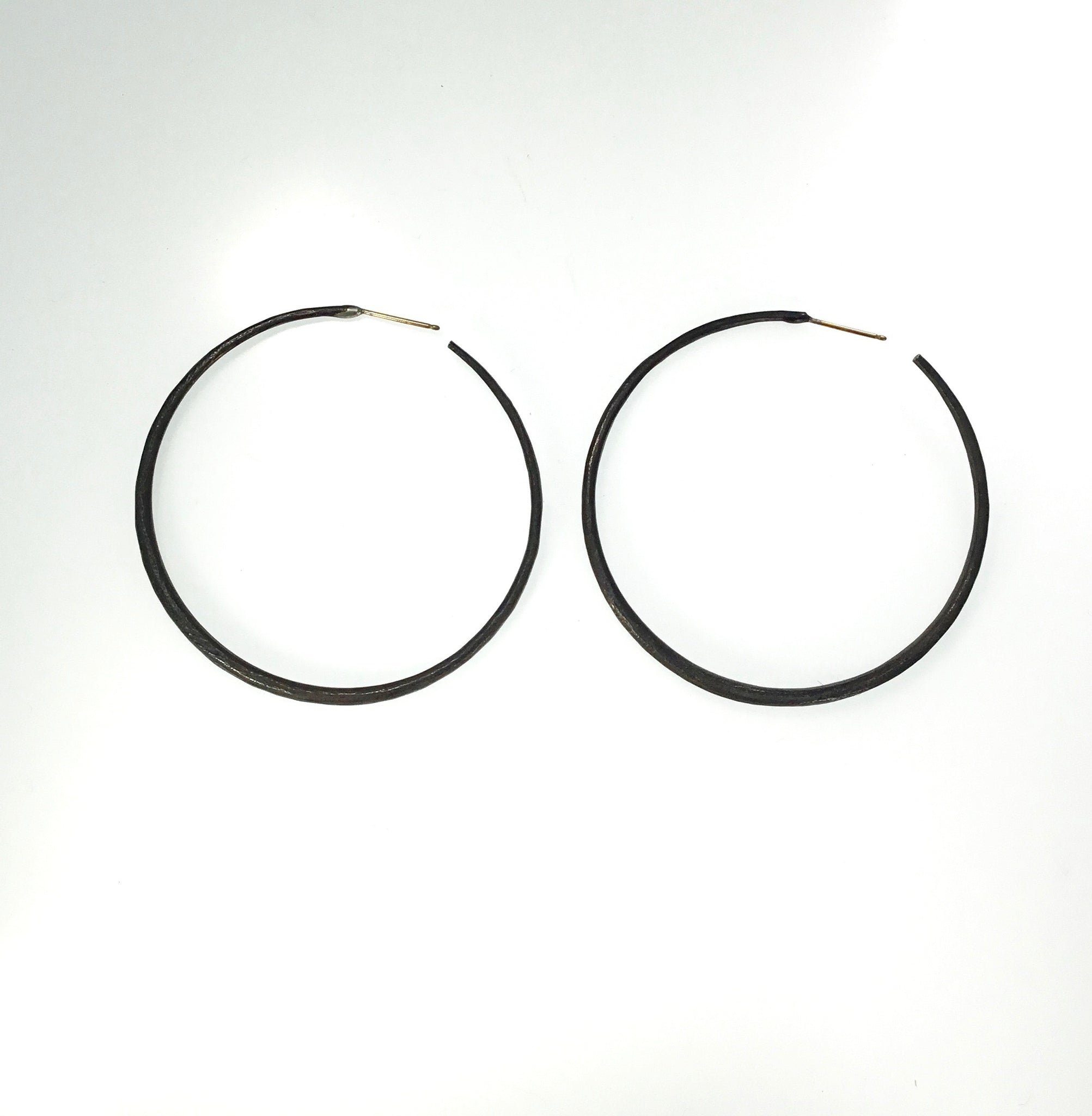 John Iversen Oxidized Silver Hoops (SOLD)