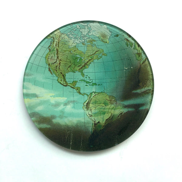 John Derian World Atlas Dish