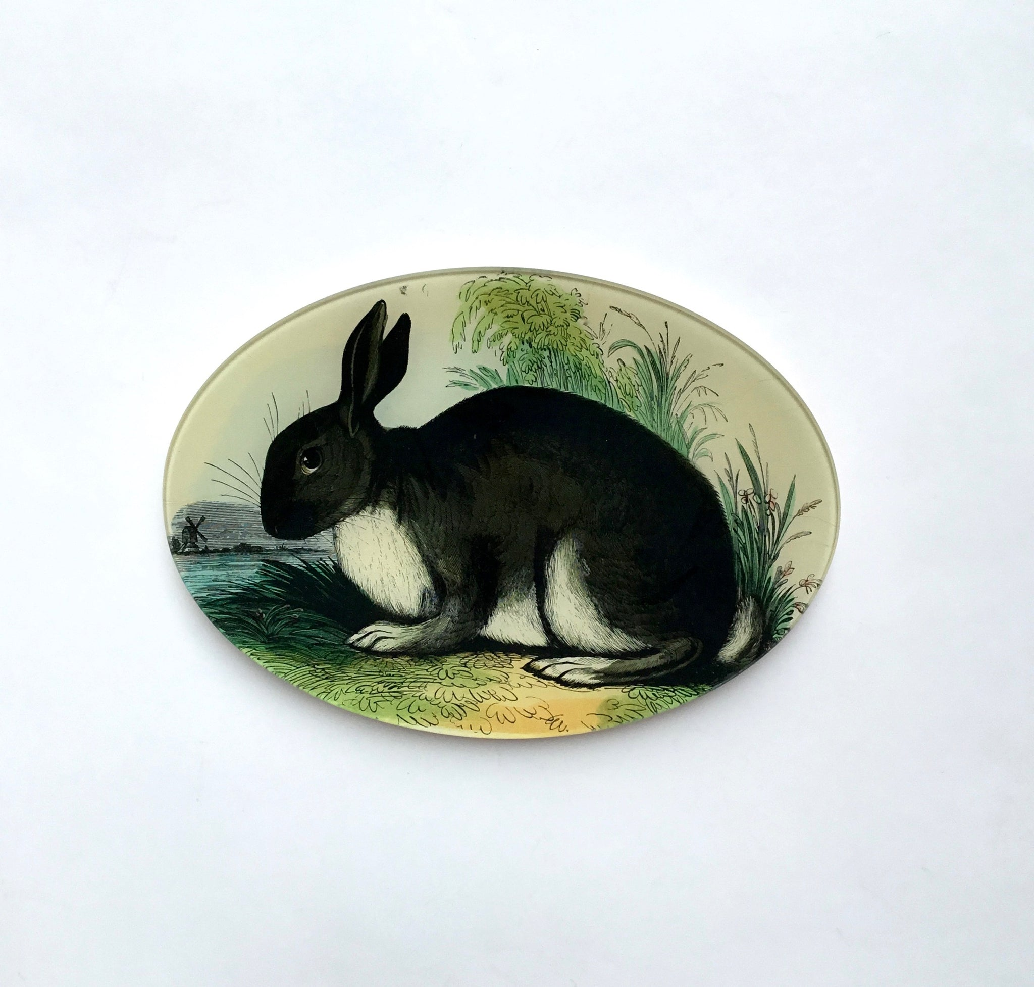 Oval Rabbit Plate by John Derian