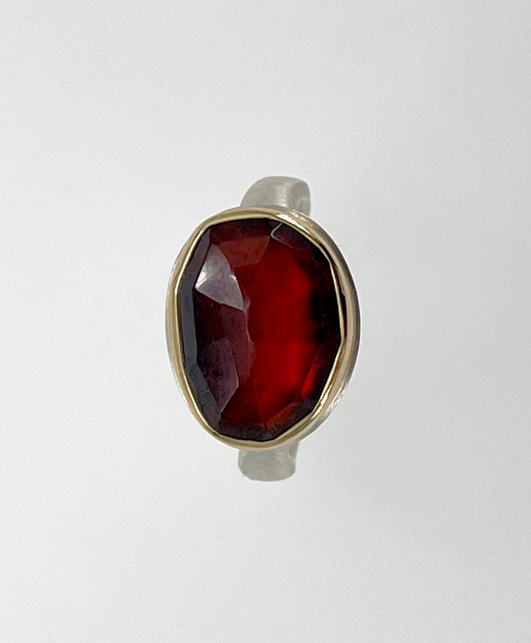 Jamie Joseph Hessonite Garnet Ring