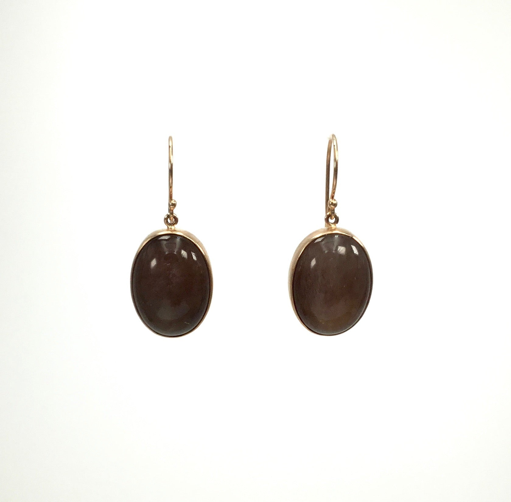 Jamie Joseph Chocolate Moonstone Earrings