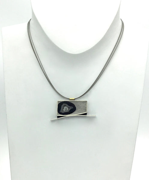 Terri Logan Horizontal Geode in Grout Necklace
