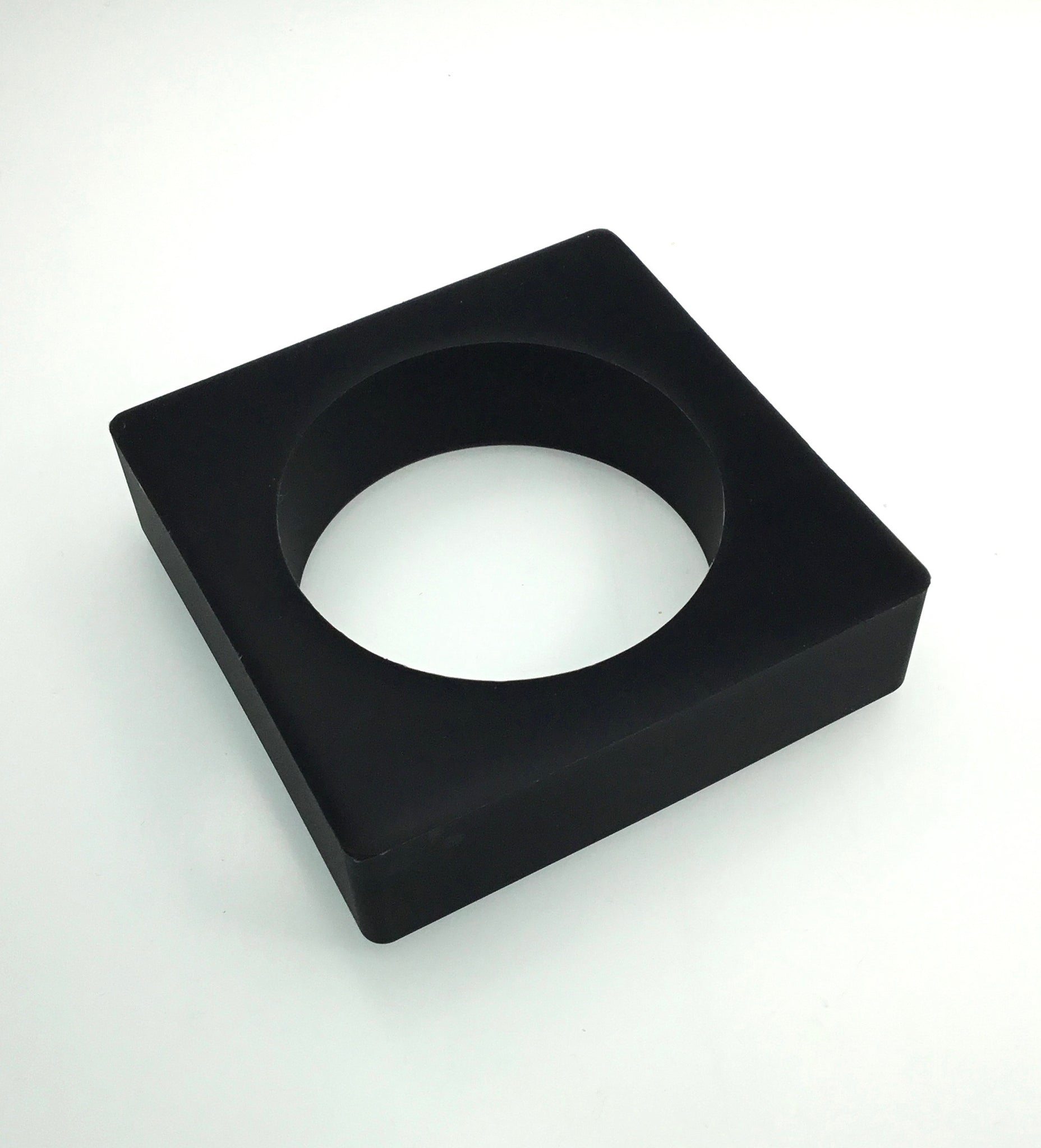 Materia Black Square Jelly Bangle