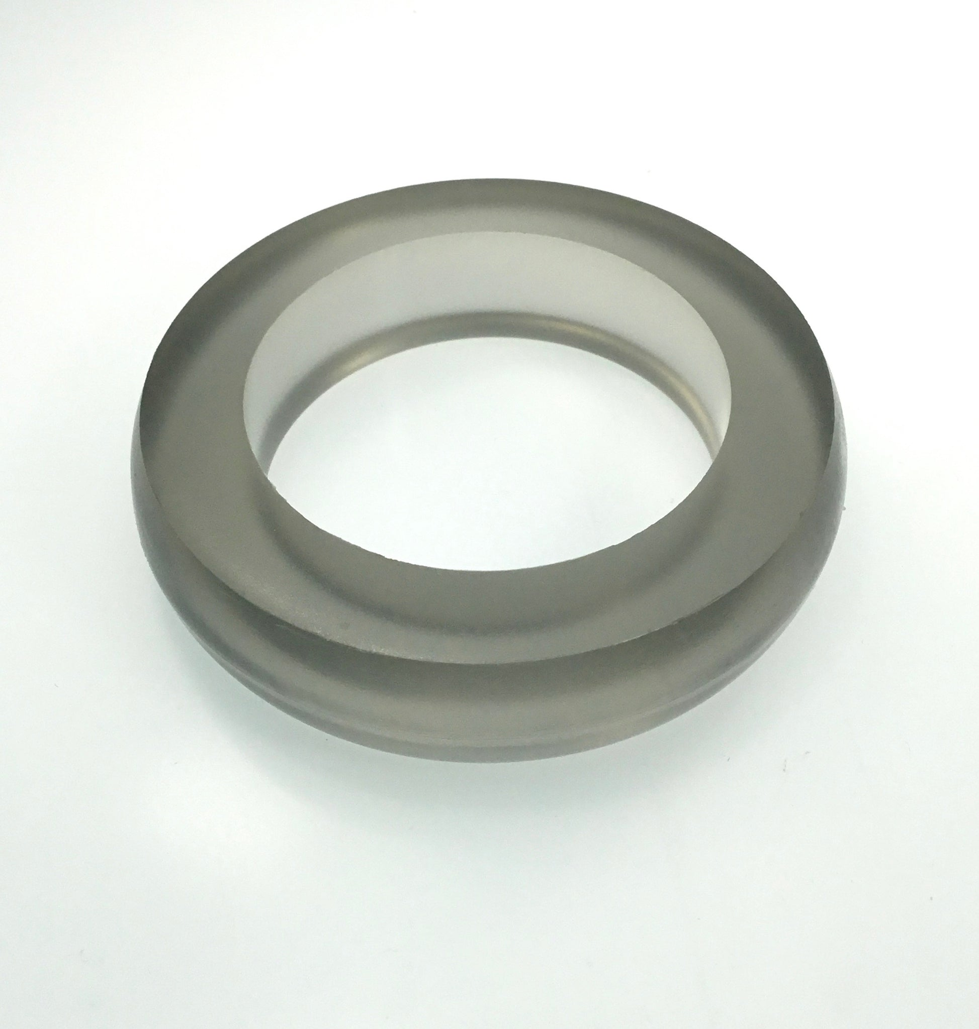 Materia Jelly Bangle in Grey Smoke