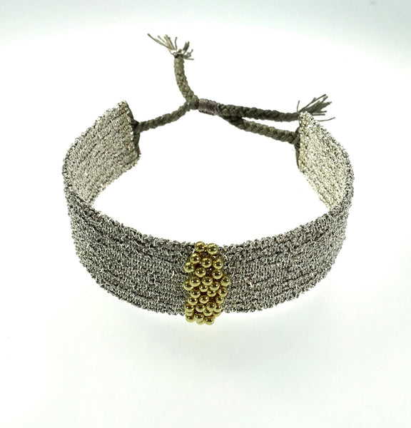 Marie Laure Chamorel Silver and Gold Bracelet